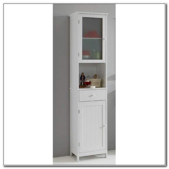 Tall White Freestanding Bathroom Cabinets