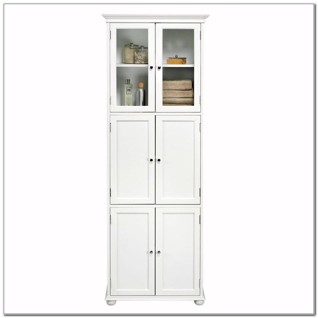 Tall White Linen Cabinet