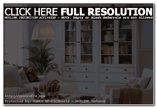 Tall White Living Room Cabinet