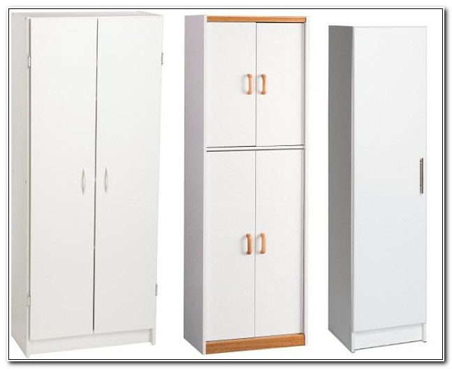 Tall White Pantry Cabinet