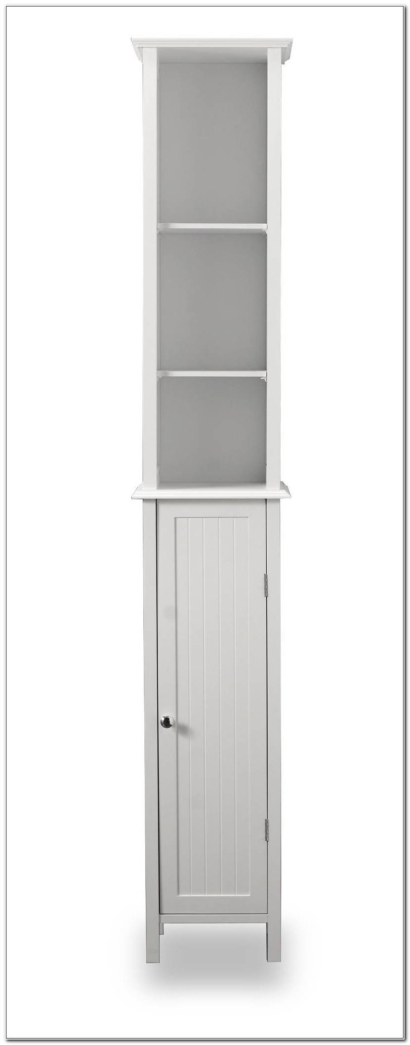 Tall White Shaker Style Bathroom Cabinet Freestanding