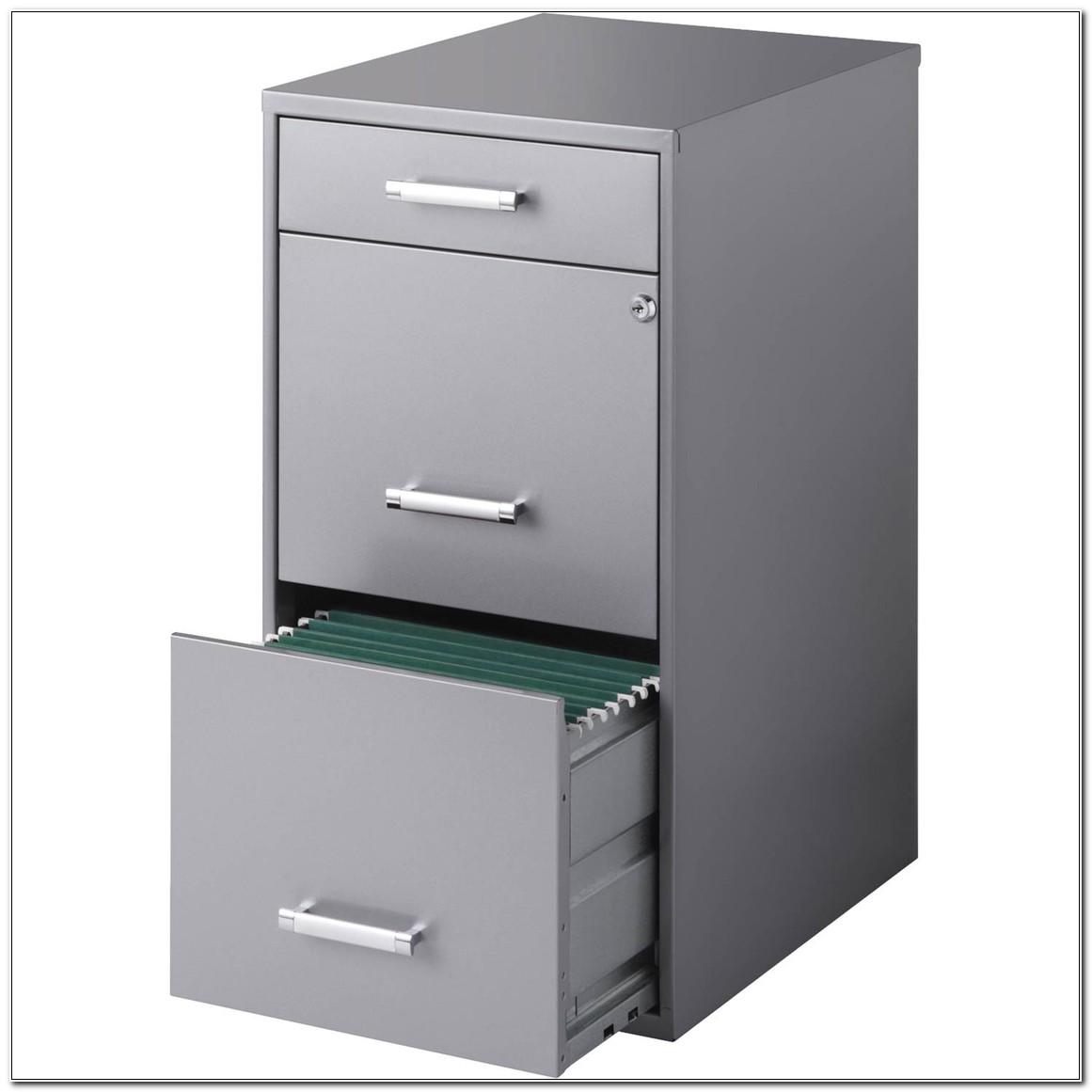 The Organizer 3 Drawer Steel File Cabinet