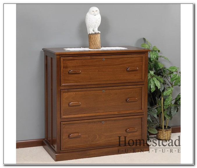 Three Drawer Lateral File Cabinet Wood