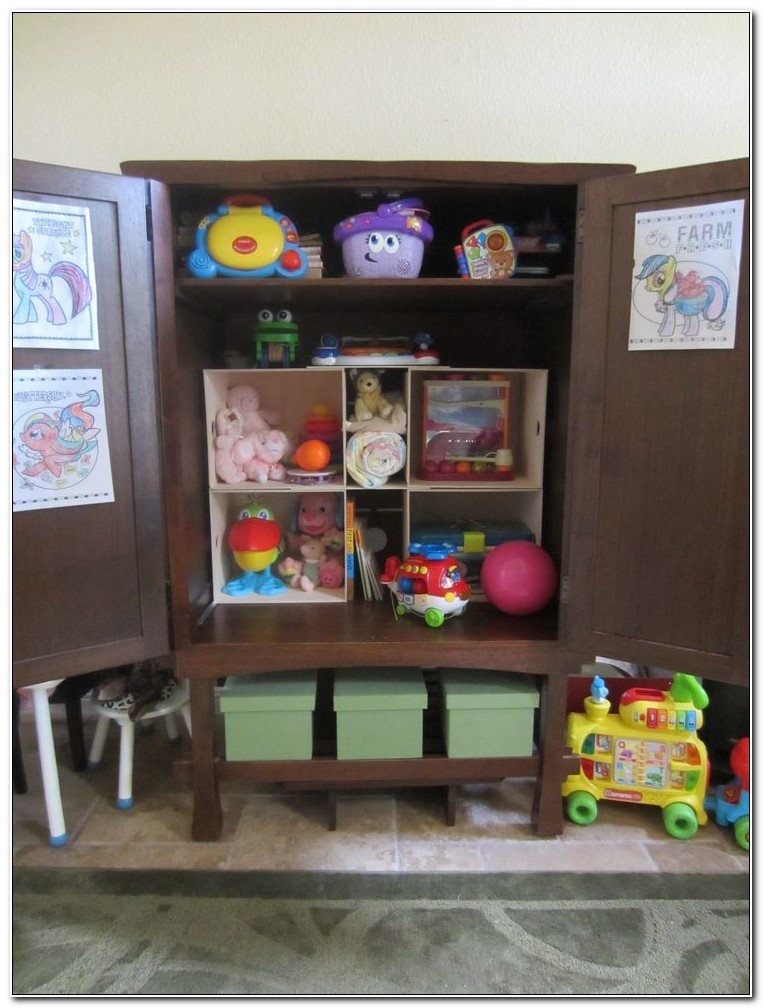 Toy Cabinet With Doors