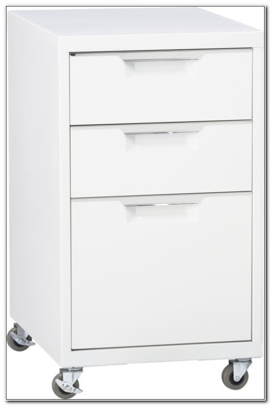 Tps White 3 Drawer Filing Cabinet