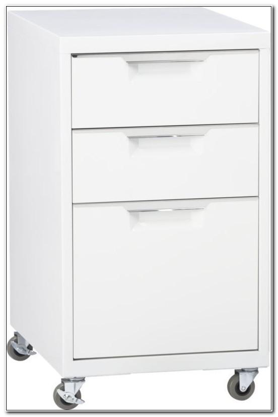 Tps White 3 Drawer Filing Cabinet