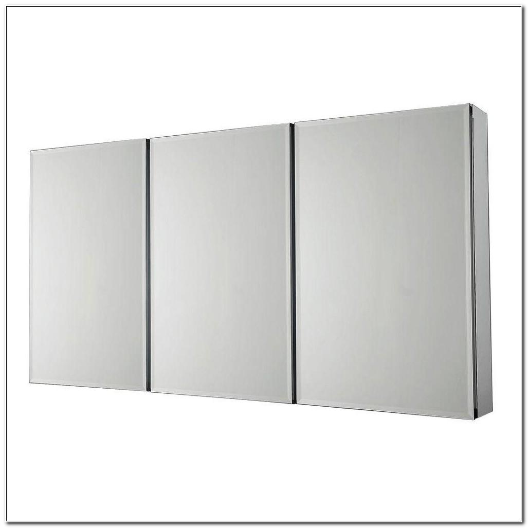 Tri View Beveled Mirrored Medicine Cabinet
