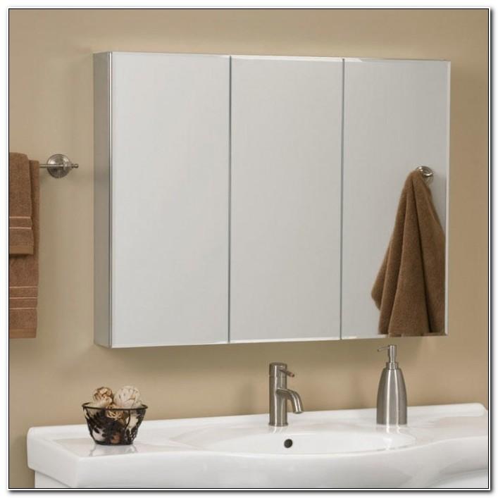 Tri View Mirrored Medicine Cabinet