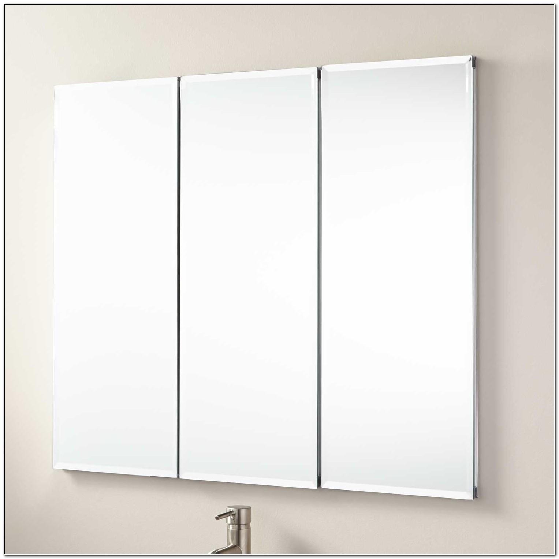 Tri View Recessed Mirrored Medicine Cabinet