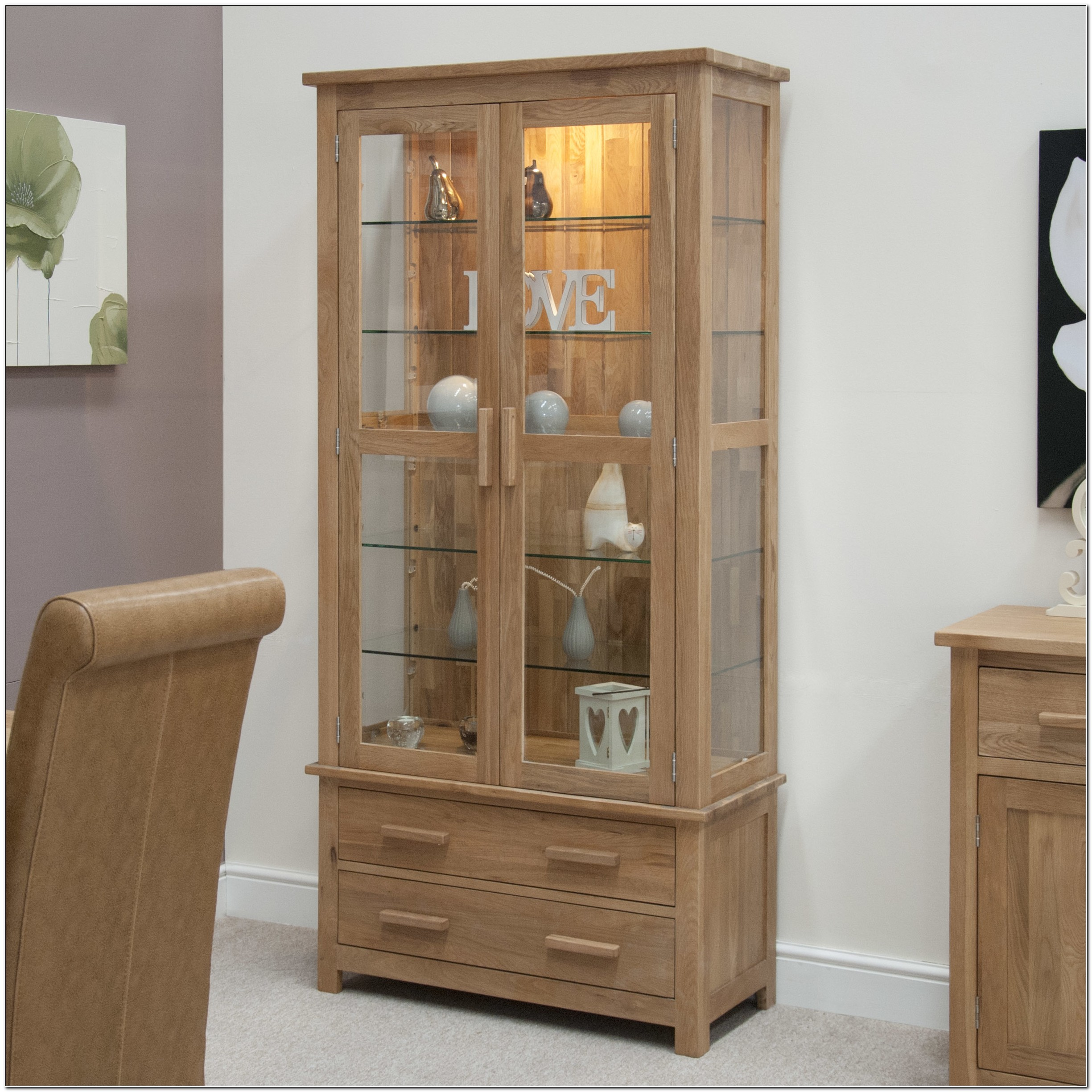 Tuscano Curio Glass Door Display Cabinet