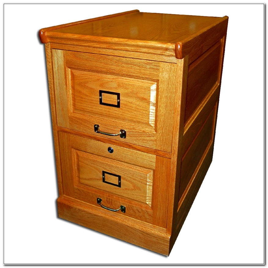 Two Drawer Oak Filing Cabinet