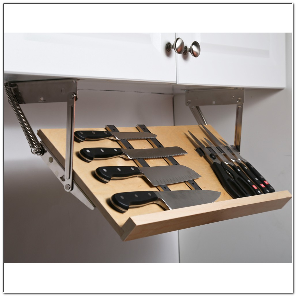 Under Cabinet Knife Rack Hinges