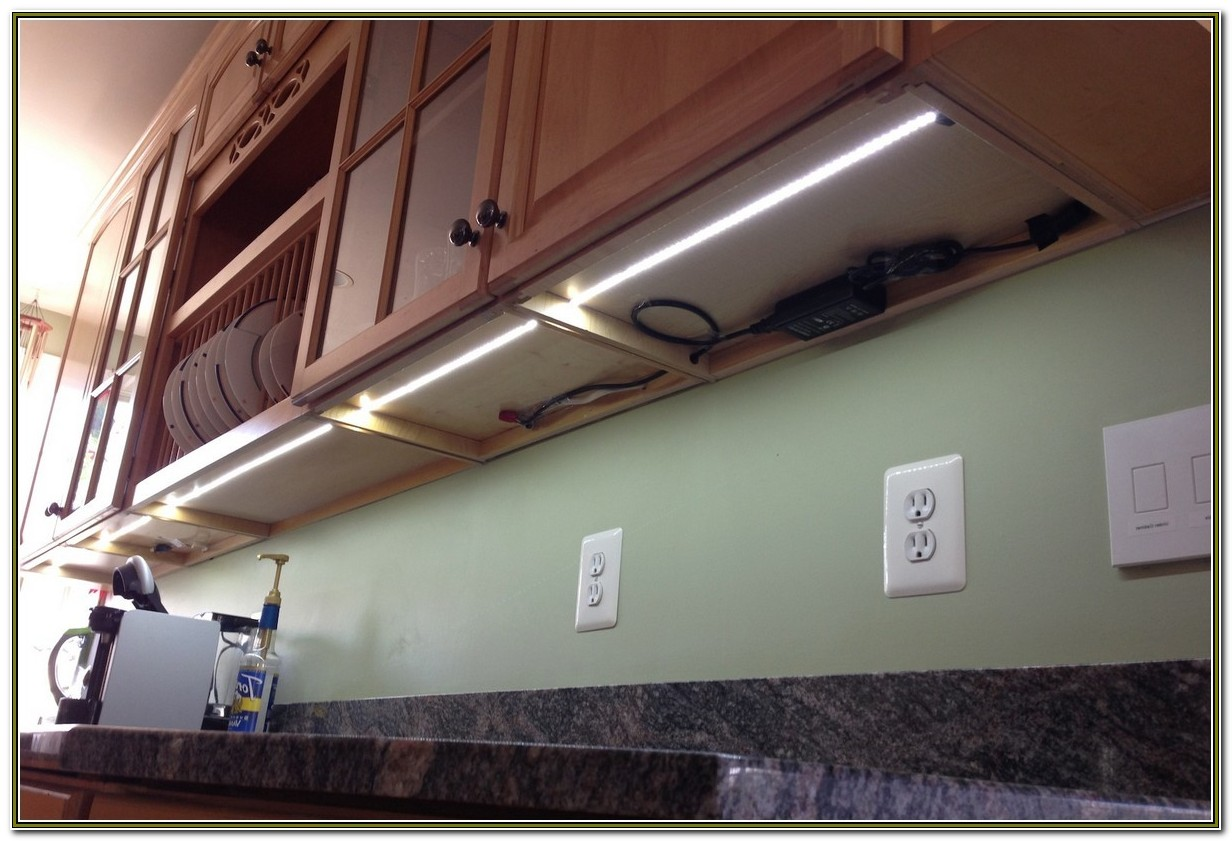 Under Cabinet Led Strip Lighting Installation