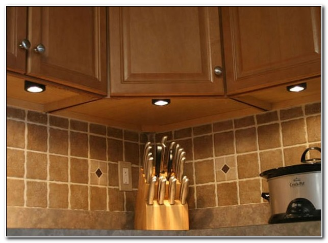 Under Cabinet Puck Light Placement