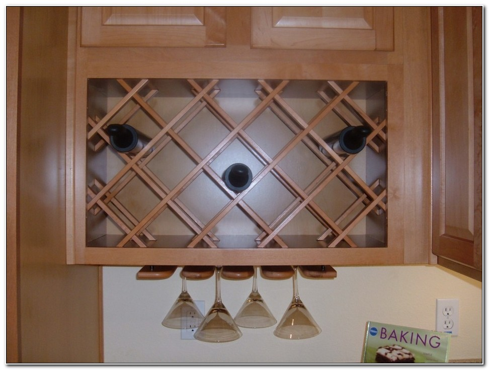 Under Counter Wine Rack Wood