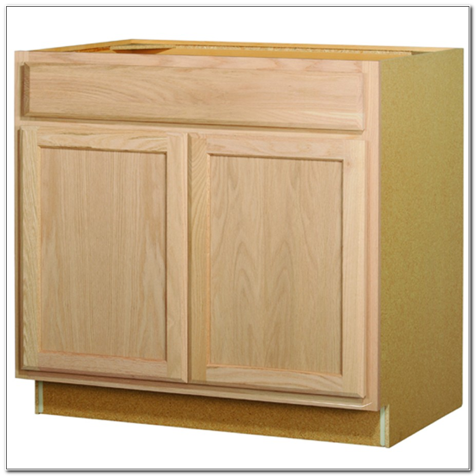 Unfinished Maple Kitchen Base Cabinets