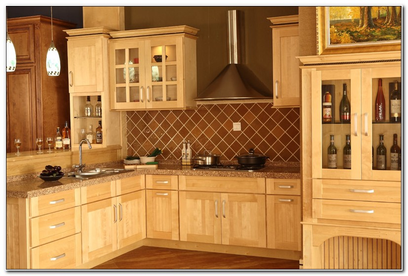 Unfinished Maple Shaker Kitchen Cabinets