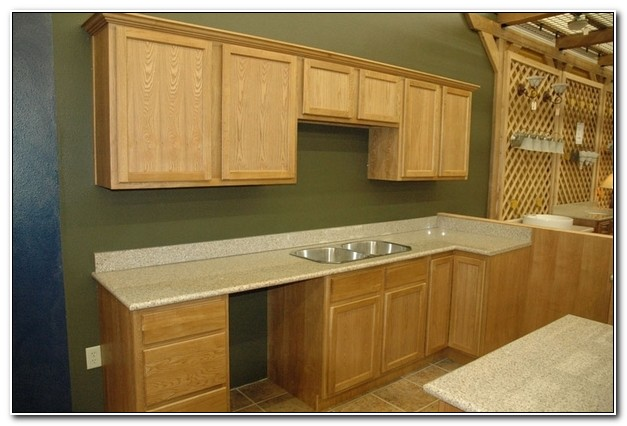 Unfinished Oak Shaker Kitchen Cabinets