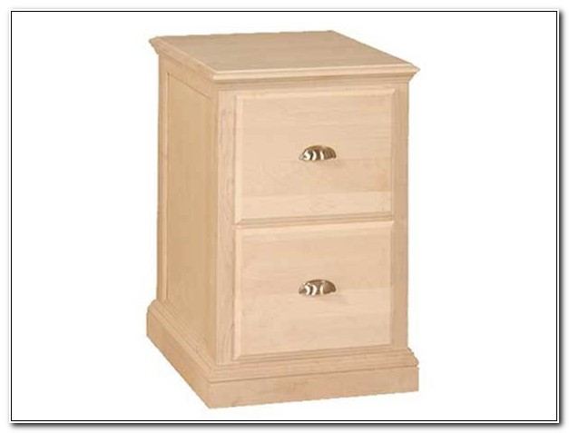 Unfinished Solid Wood File Cabinet