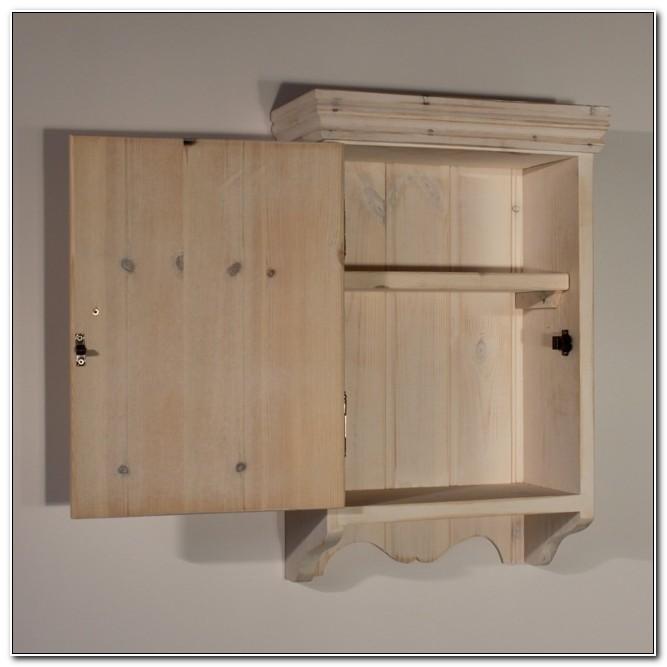 Unfinished Wood Bathroom Wall Cabinets