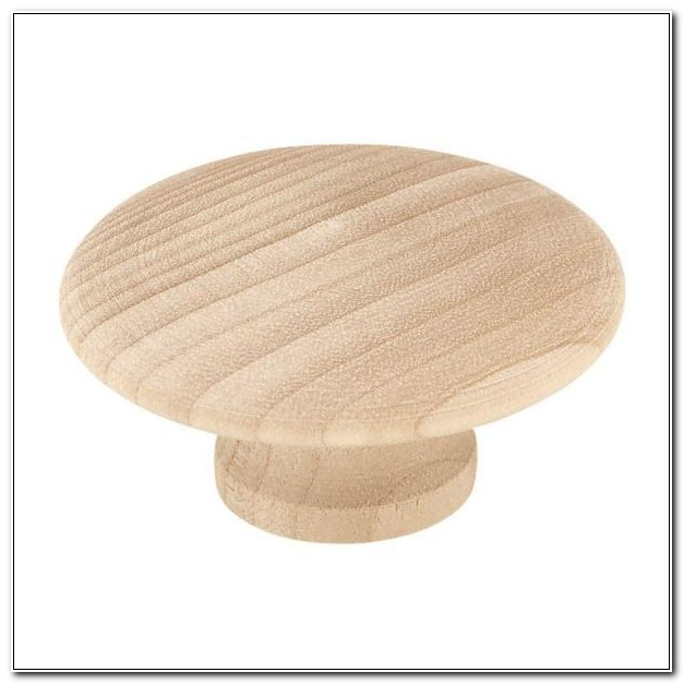 Unfinished Wood Drawer Knobs