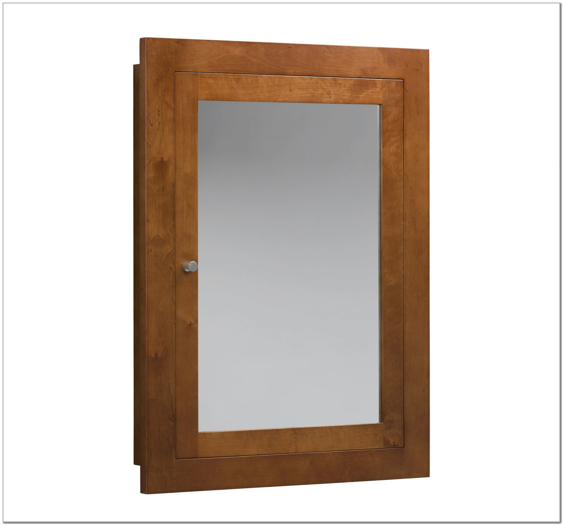 Unfinished Wood Framed Recessed Medicine Cabinet