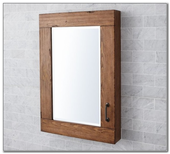 Unfinished Wood Medicine Cabinet With Mirror