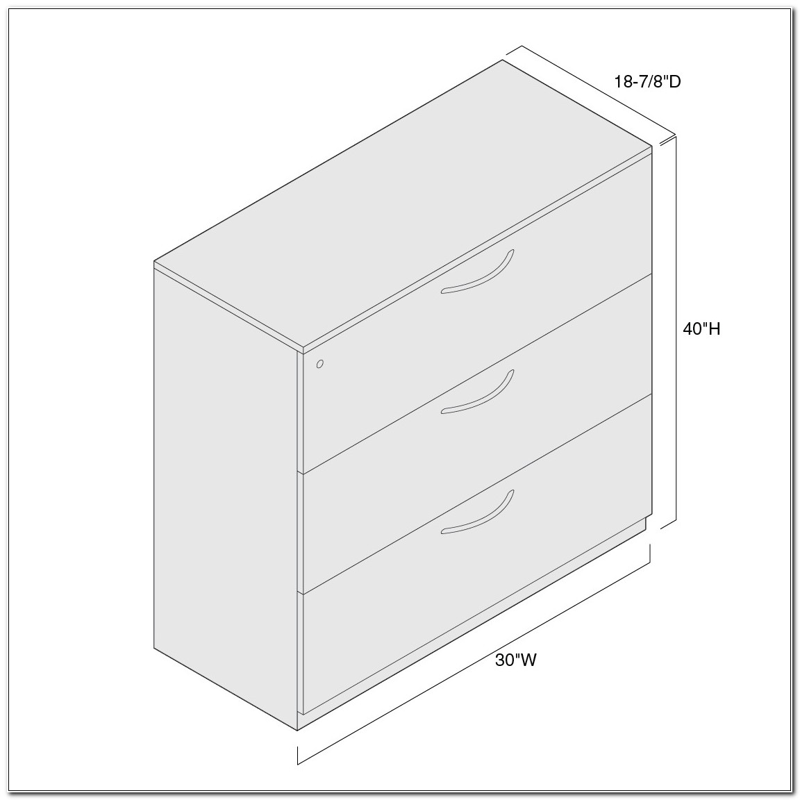 Universal Lateral File Cabinet Rails