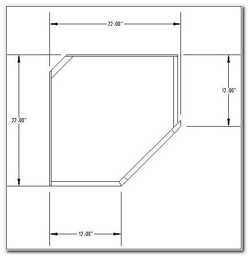 Upper Corner Cabinet Dimensions