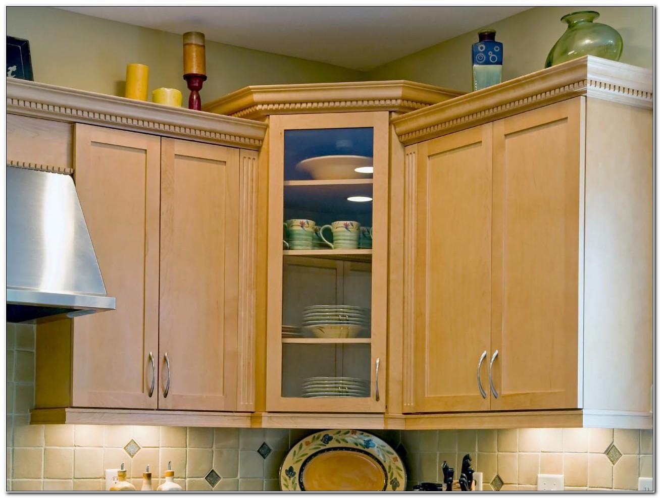 Upper Corner Kitchen Cabinet Design
