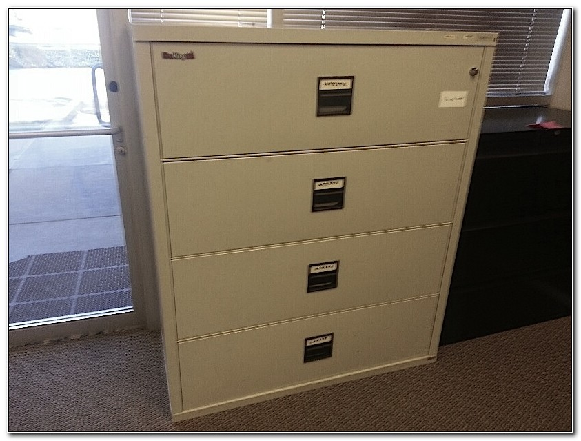 Used 2 Drawer Fireproof File Cabinet