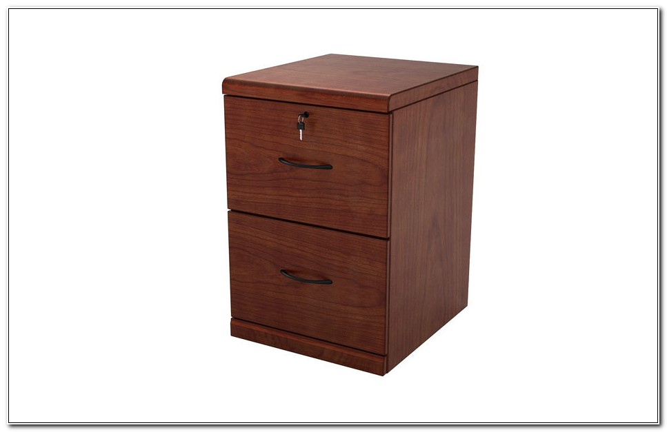 Used 2 Drawer Wood File Cabinet