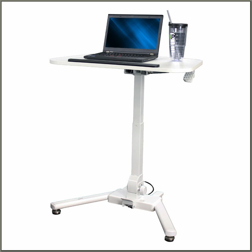 Adjustable Height Laptop Desk Cart
