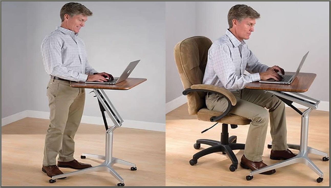 Adjustable Standing Sitting Desk