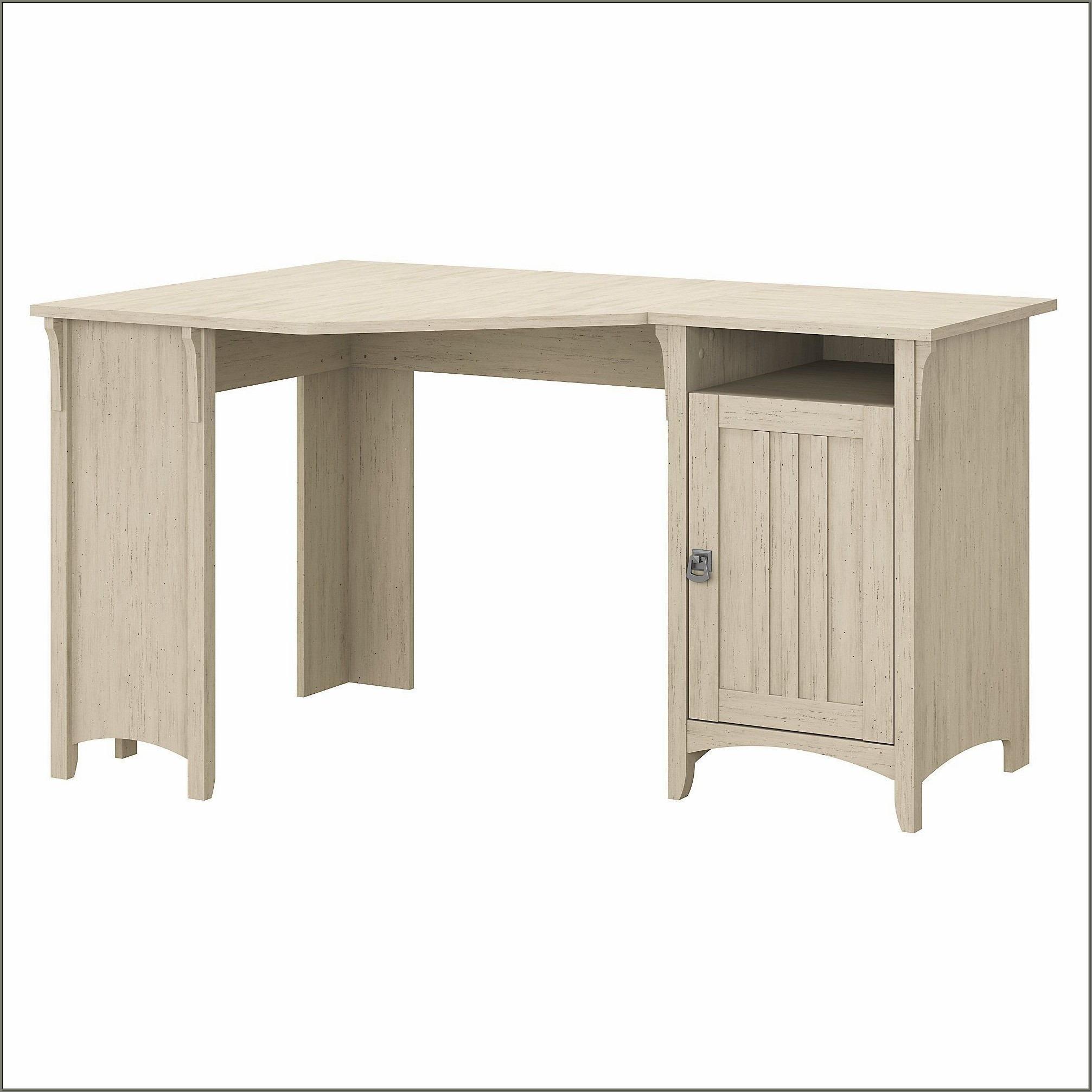 Antique White Corner Desk