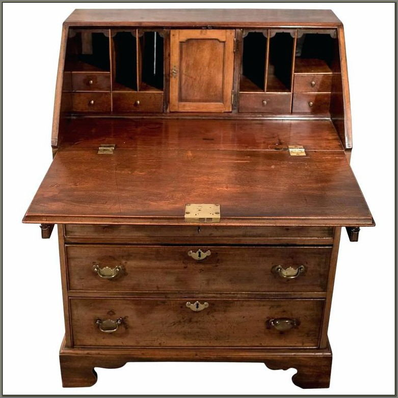 Antique Writing Desk With Drawers For Sale