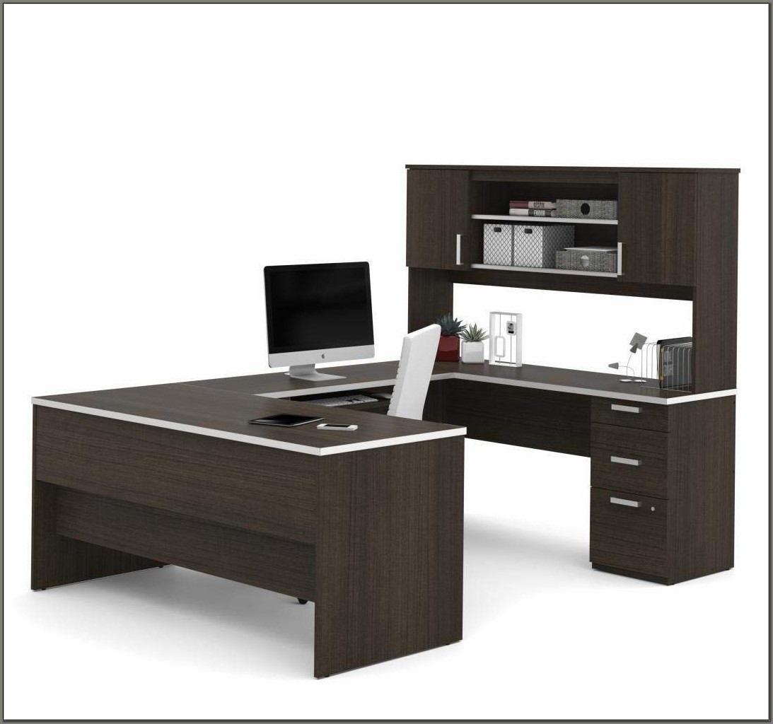 Bestar U Shaped Desk With Hutch
