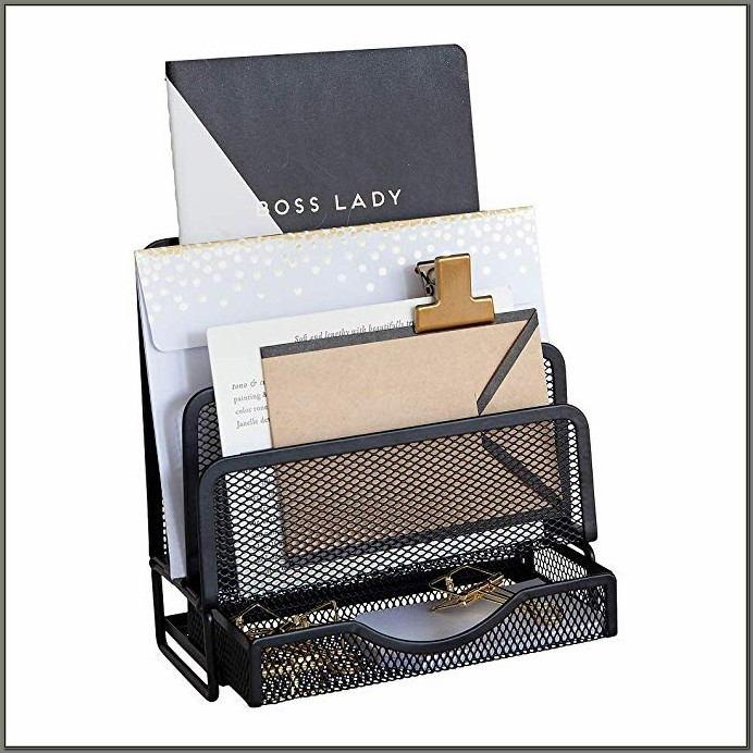Black Wire Mesh Desk Accessories