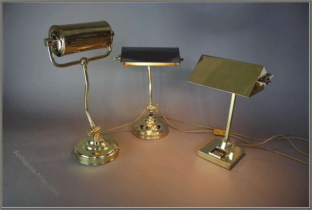 Brass Bankers Desk Lamp
