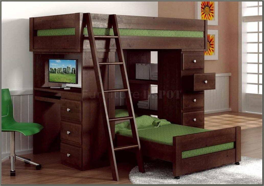 Bunk Bed Desk Combo