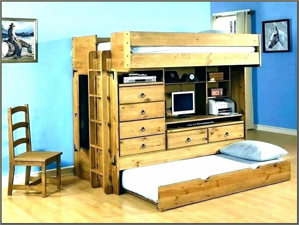 Bunk Bed Desk Trundle Combo