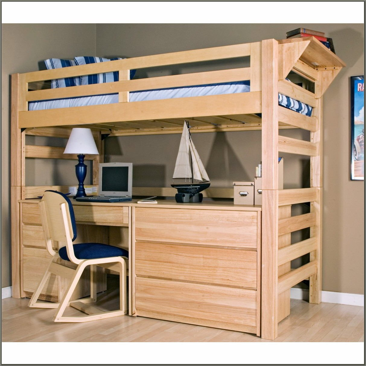 Bunk Bed Loft With Desk