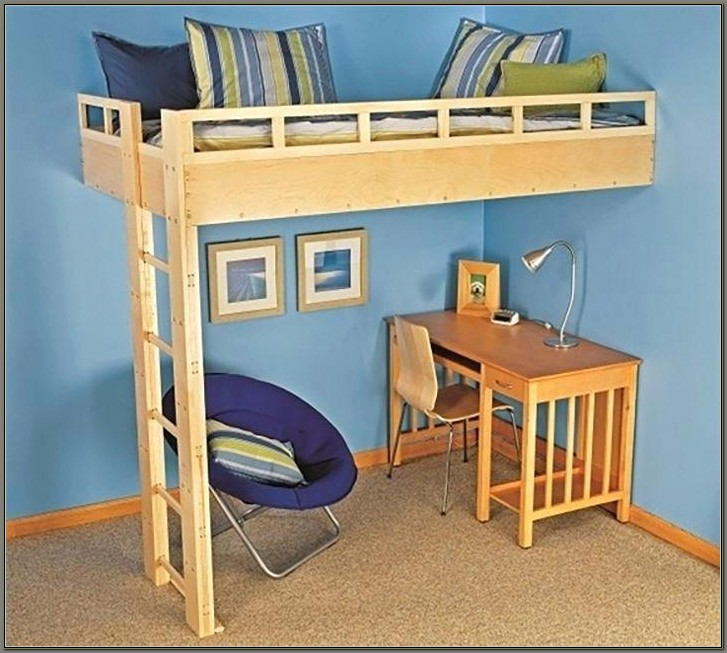 Bunk Bed With A Desk Underneath
