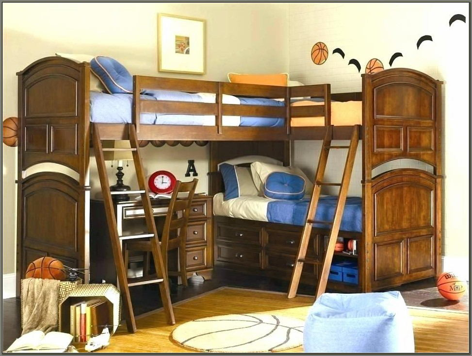 Bunk Bed With Desk And Slide