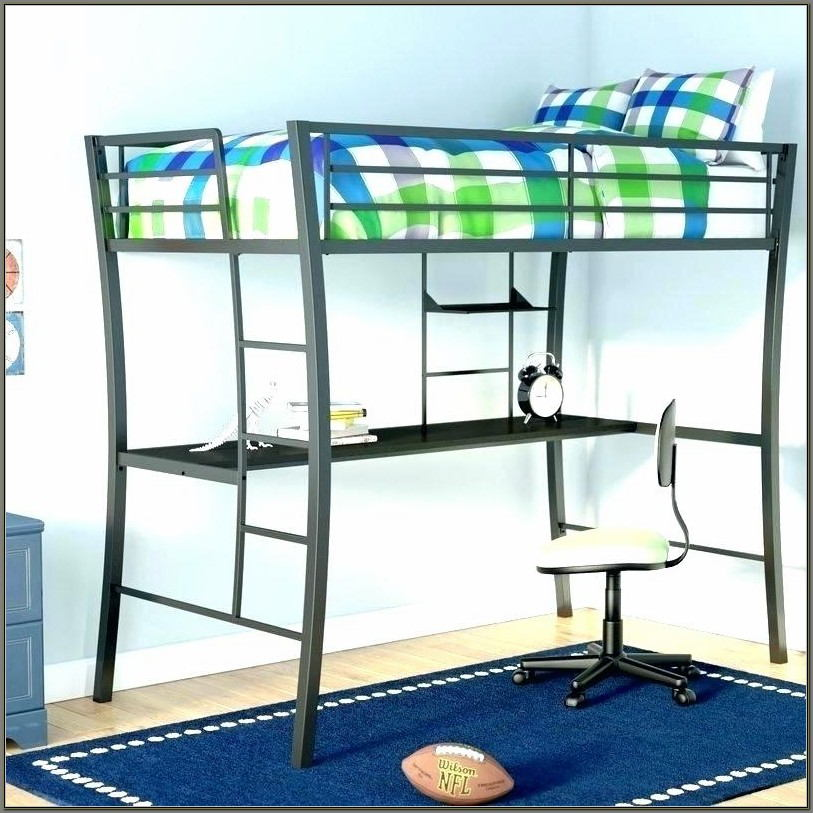 Bunk Bed With Desk And Storage Underneath