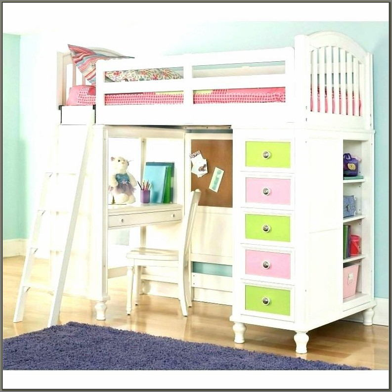 Bunk Bed With Study Desk Underneath