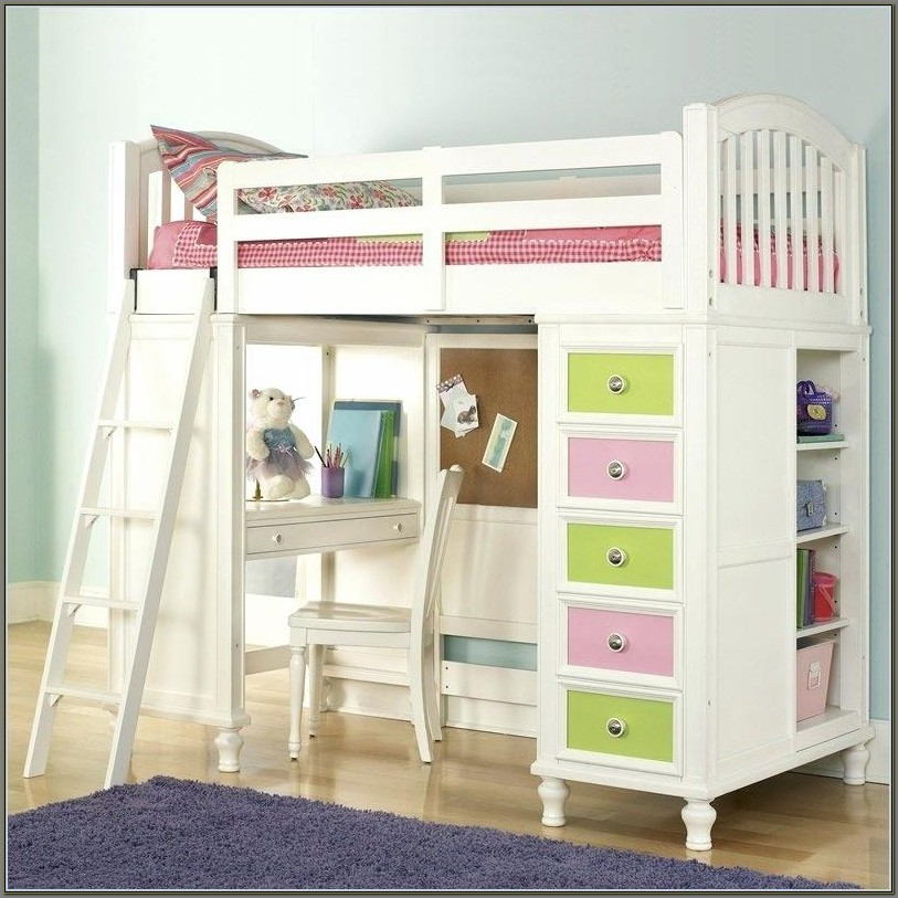 Bunk Beds With A Desk For Girls
