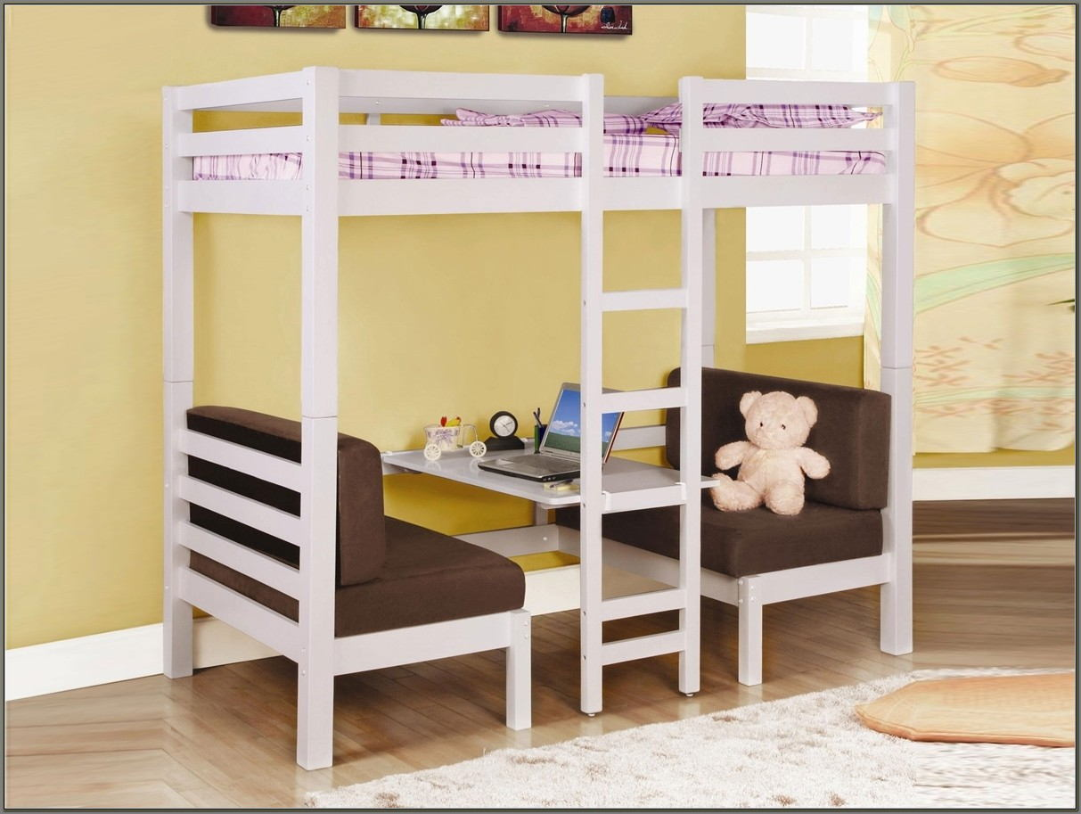 Bunk Beds With Desk And Slide