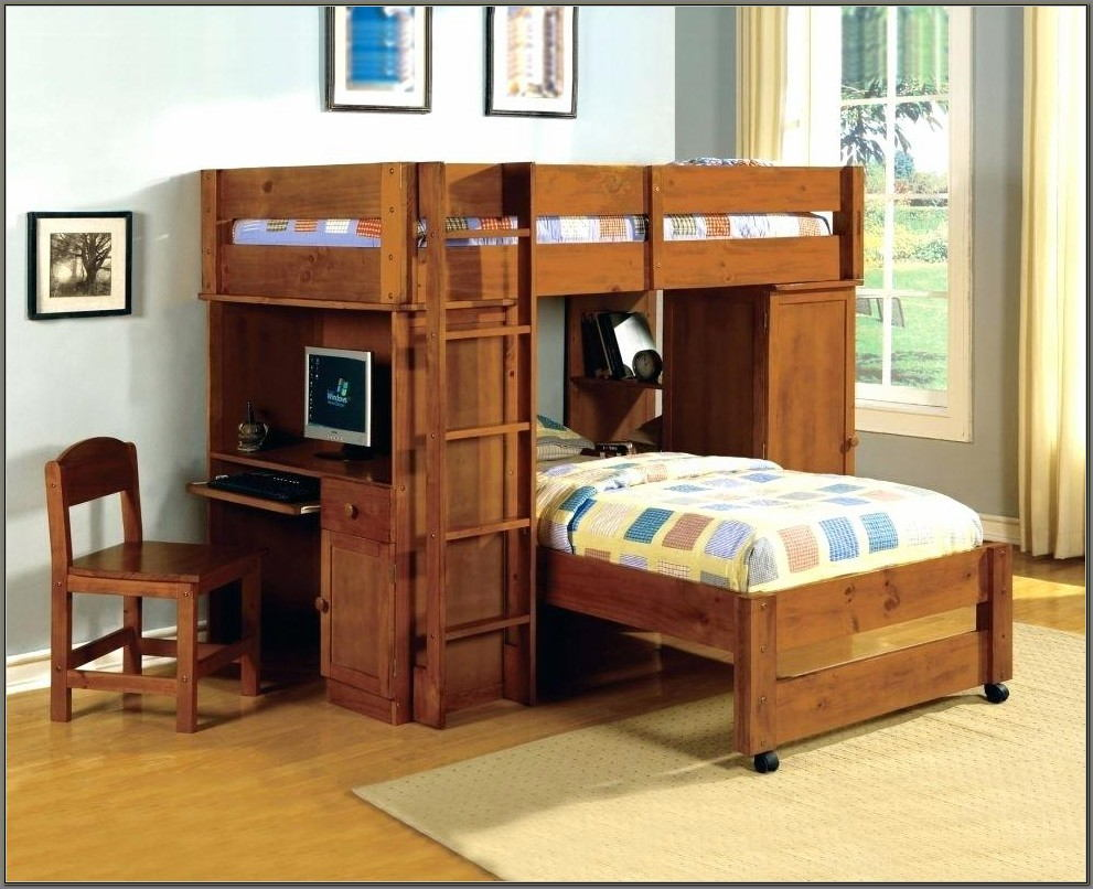 Bunk Beds With Desks Under Them