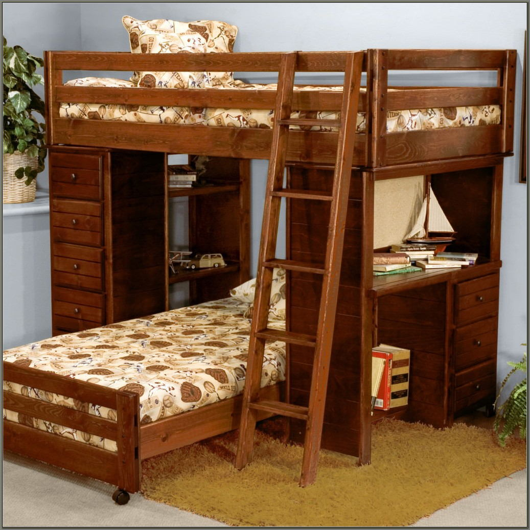 Bunk Beds With Drawers And Desk